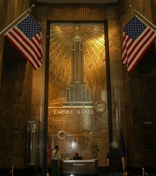 Empire state building lobby mural for Empire state building mural